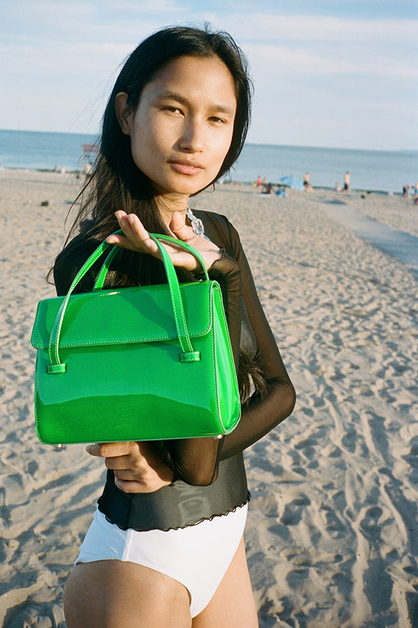 MARLOW BAG MEDIUM, NEON GREEN