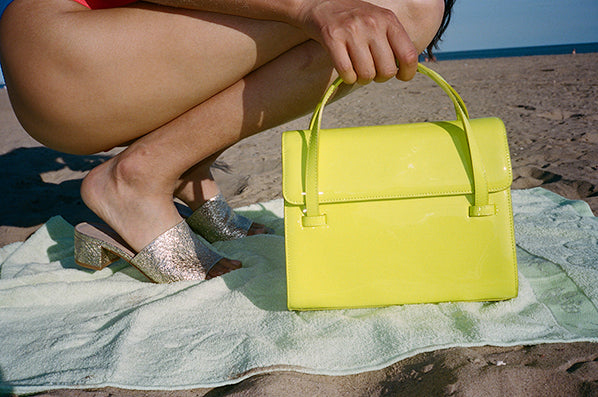 MARLOW BAG MEDIUM, NEON YELLOW