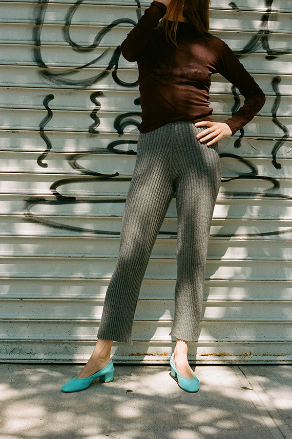 MARU PANTS, DARK GREY MELANGE
