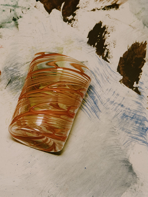 MURANO GLASS, WHEAT CORAIL