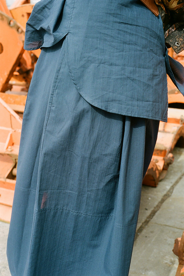 NOMAD SKIRT, STRIPED INDIGO