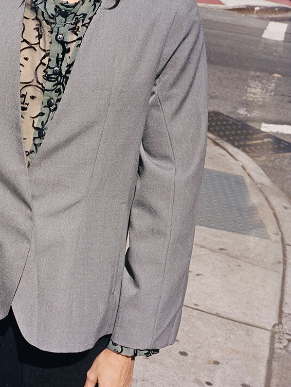 OFFICE BLAZER, GREY