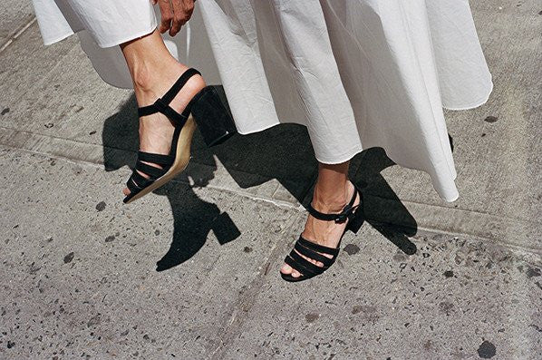PALMA HIGH SANDAL, BLACK SUEDE