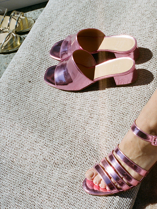 PALMA LOW, PINK METALLIC