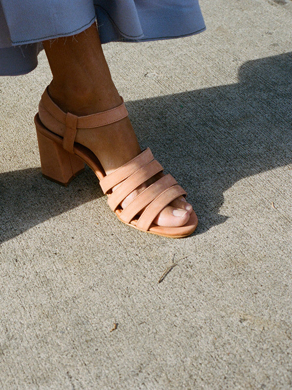 PALMA HIGH SANDAL, NATURAL NUBUCK