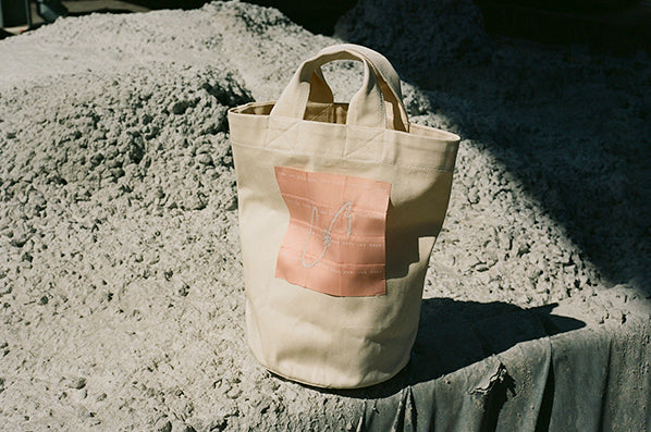 PAT WASHED CANVAS TOTE, EMBROIDERED LOGO