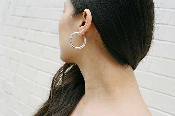 PETITE CLASSIC HOOP EARRINGS, STERLING SILVER
