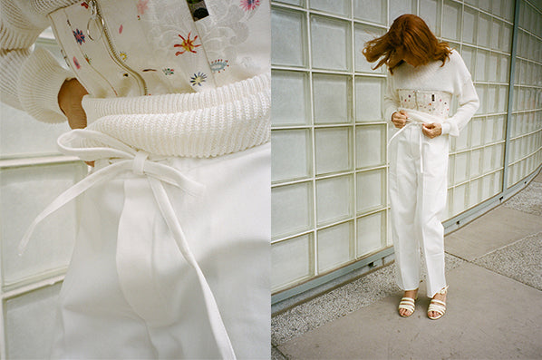 JAPANESE COTTON PYJAMA PANTS, WHITE