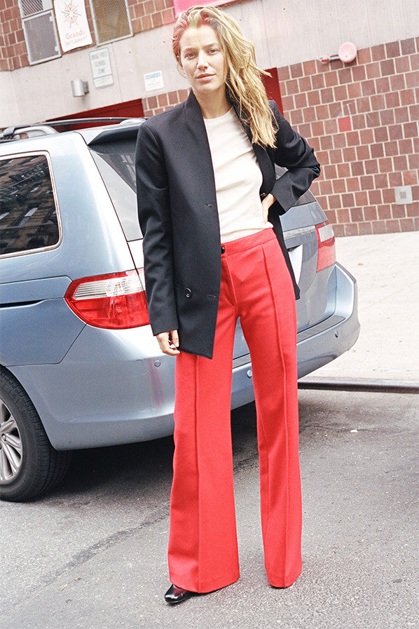 FLARED PANTS, RED