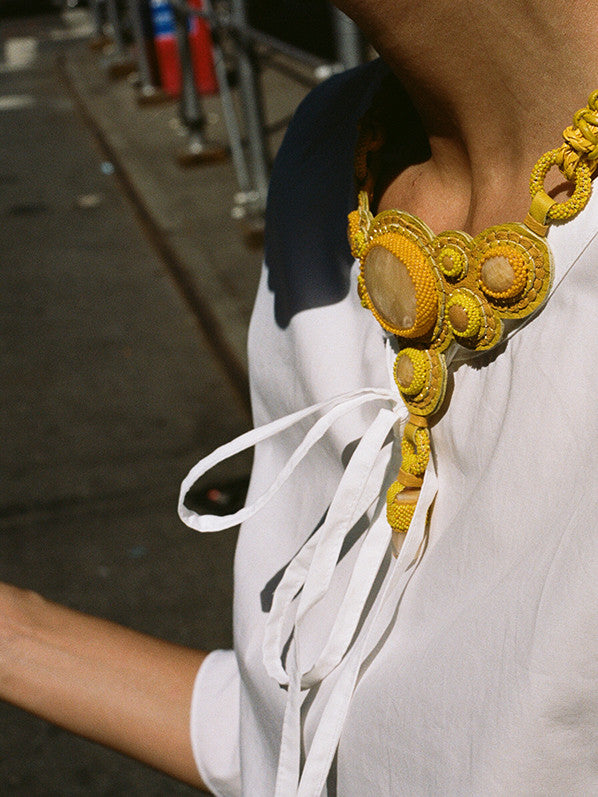 EMILY NECKLACE, YELLOW