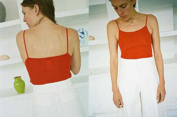 SECOND SKIN TANK TOP, RED