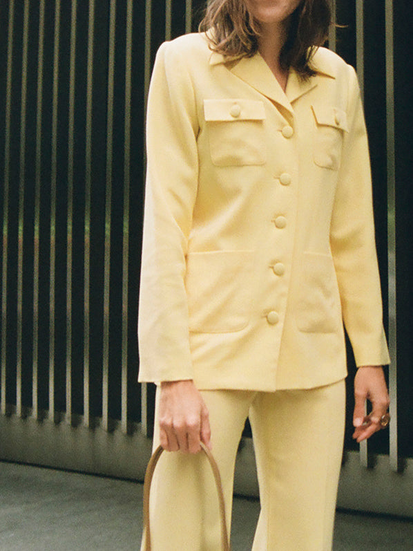 SERAFINA SUIT JACKET, BUTTER YELLOW