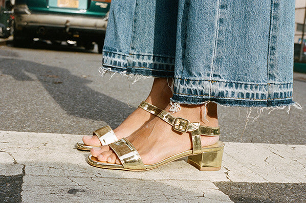 SOPHIE SANDAL, GOLD METALLIC
