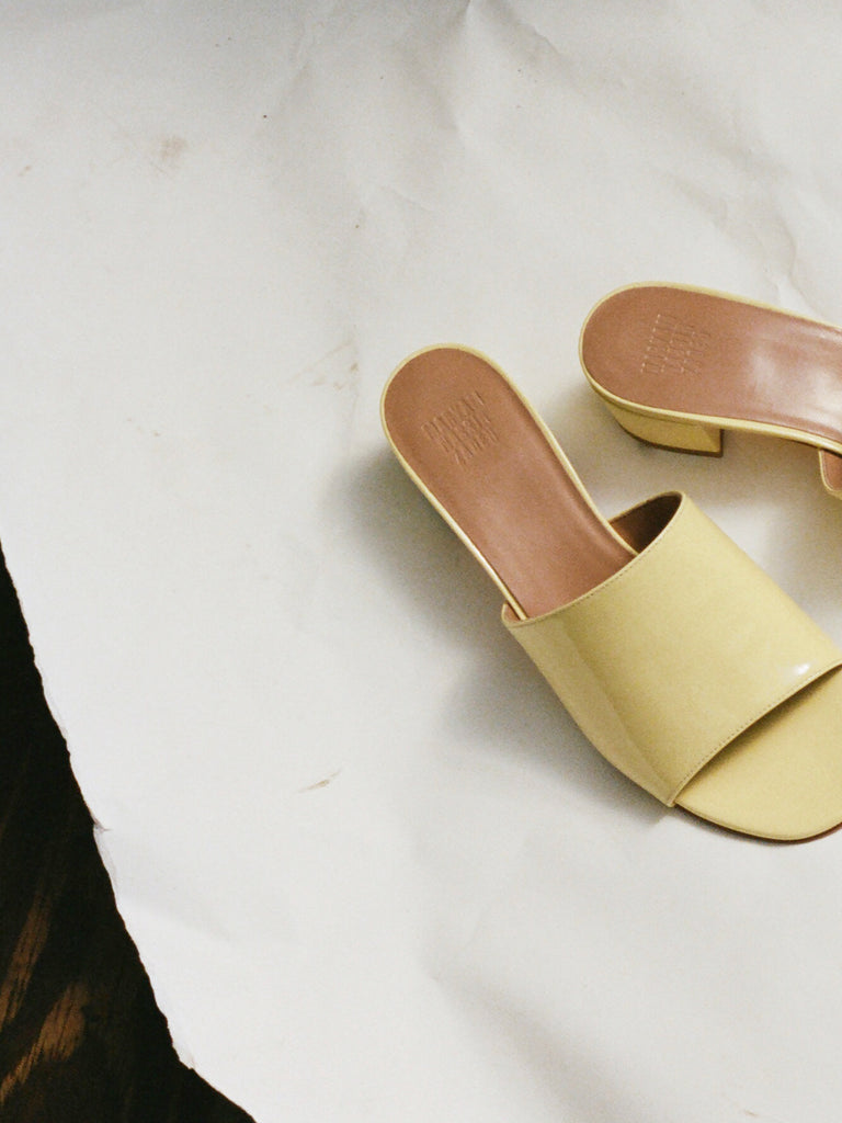 SOPHIE SLIDE, BUTTER PATENT — ONLINE EXCLUSIVE