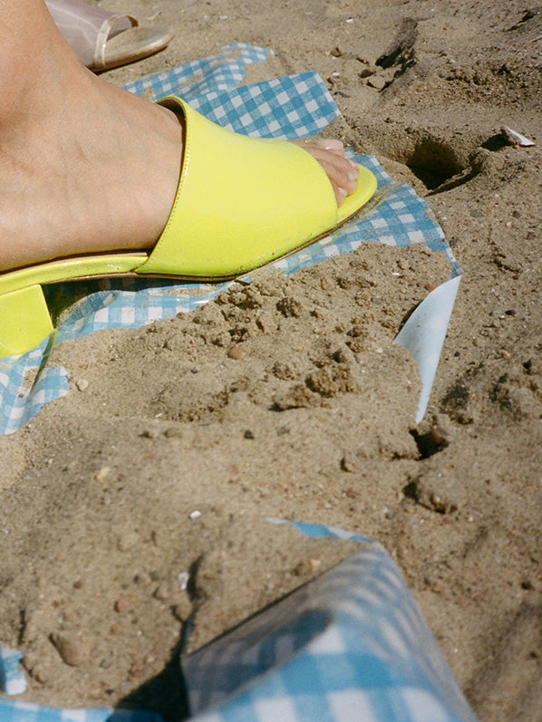 SOPHIE SLIDE, NEON YELLOW