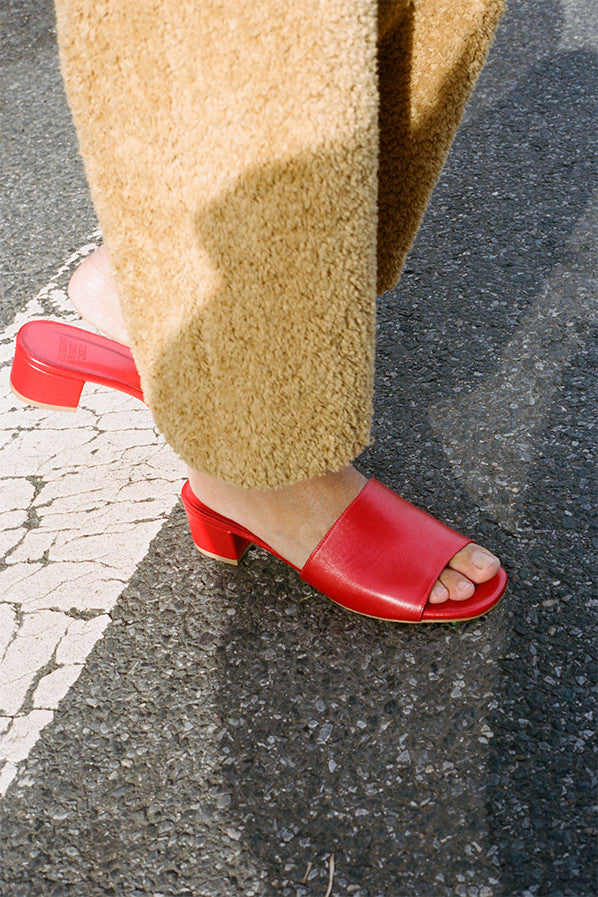 SOPHIE SLIDE, RED CALF