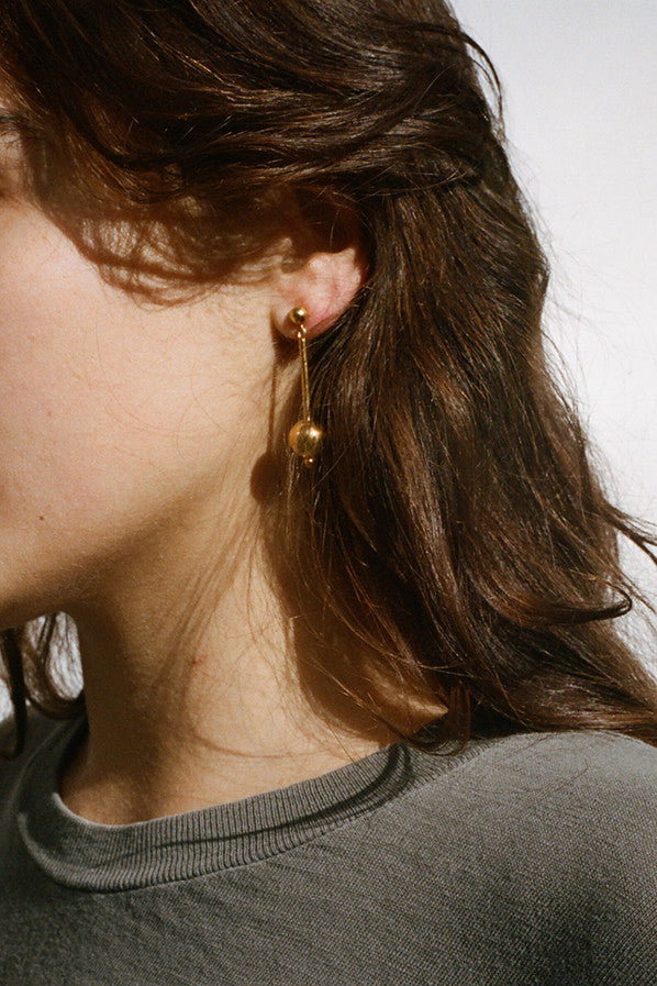 GOLD SUZANNE EARRINGS, 18K GOLD VERMEIL
