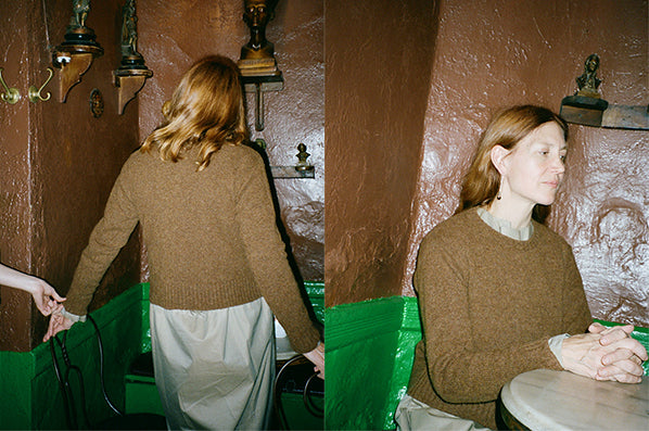 DROP SHOULDER SWEATER, WHISKY