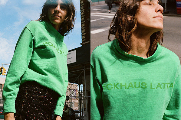 SWEATSHIRT, KELLY GREEN