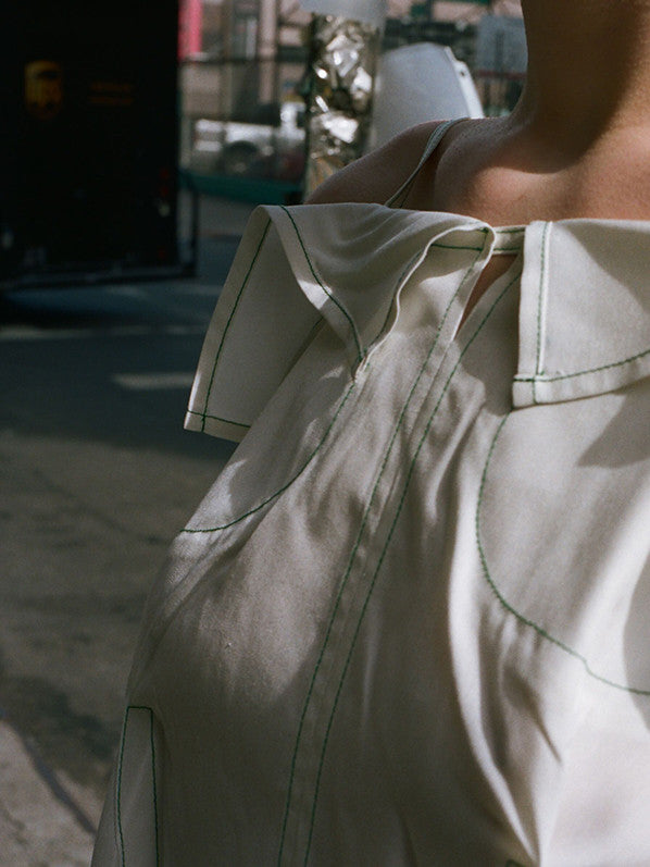 TENT BLOUSE, OFF WHITE