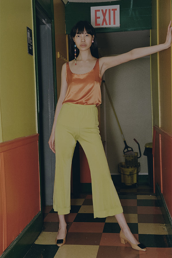 TROUSERS, CITRON