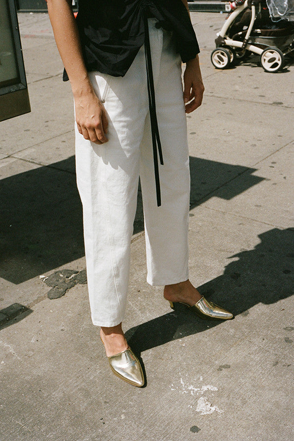 TWISTED PANTS, OFF WHITE