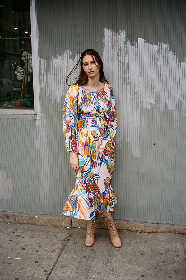EUGENIA DRESS, VILLALOBOS PRINT