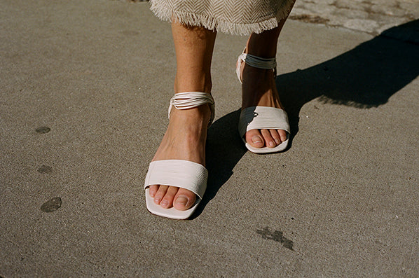 VITTA SANDAL, OFF WHITE