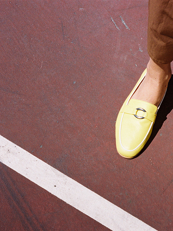 MANUELA LOAFER, YELLOW/WHITE CALF