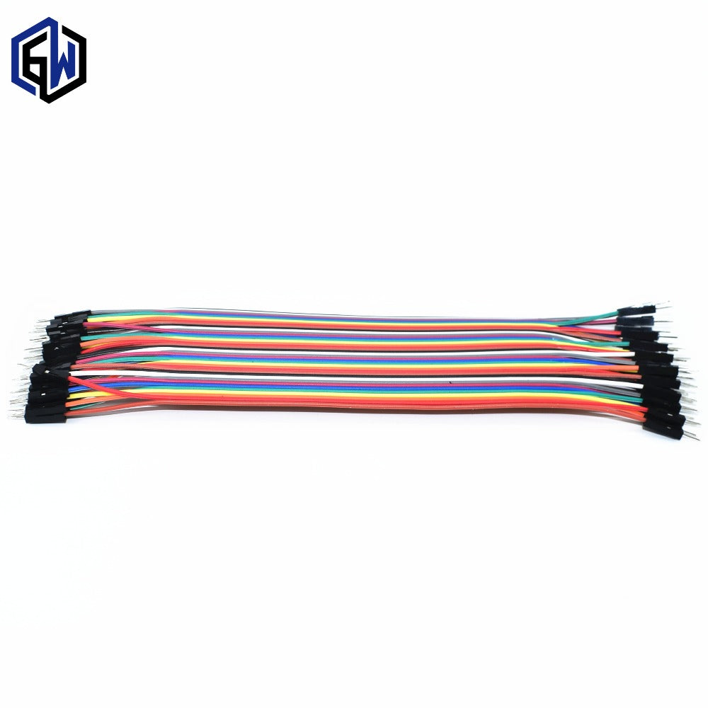 40pcs dupont cable jumper wire dupont line male to male dupont line 20cm 1P diameter:2.54mm SKUGG