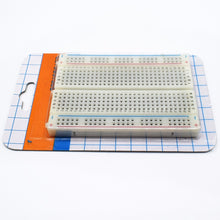 Load image into Gallery viewer, mini bread board / breadboard 8.5CM x 5.5CM 400 holes Transparent/White DIY