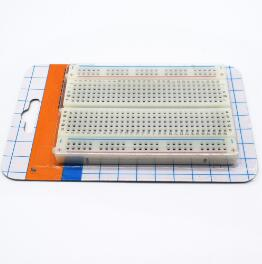 mini bread board / breadboard 8.5CM x 5.5CM 400 holes Transparent/White DIY