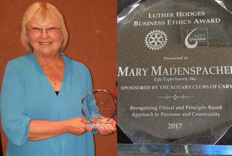 Back to Top Mary Madenspacher Wins Luther Hodges Ethics Rotary Award 2017