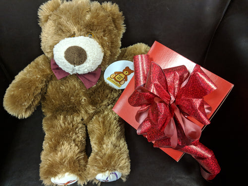 Valentine's Day Bear and Brownies