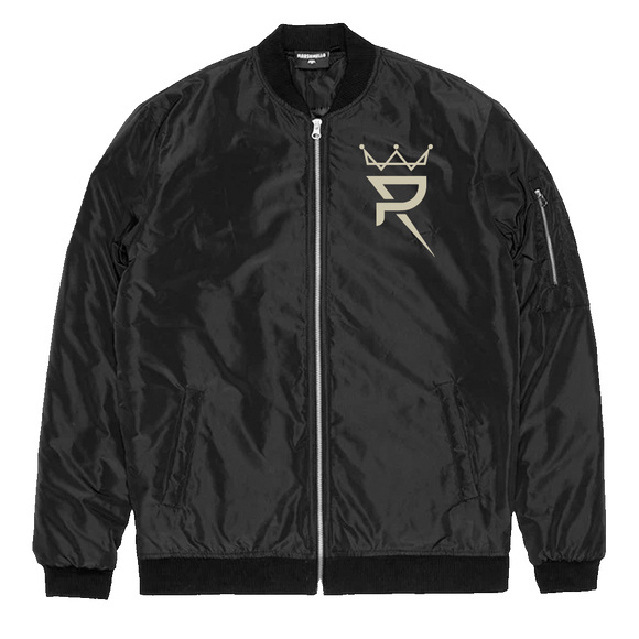 Black Bomber Jacket-Crown/Alter Ego Logo