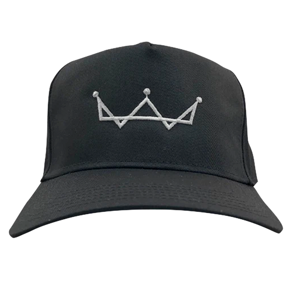 Black Snapback Cap-Crown Logo