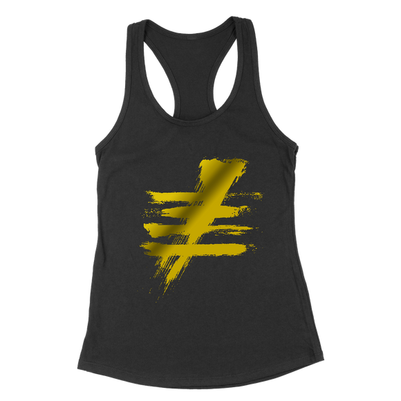 Black Tank-FIVE Gold Foil Hashtag