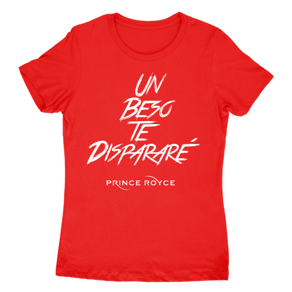 Women's Red SS-Un Beso Te Disparare Logo