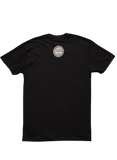 Logo on a Black Next Level SS Men's Tee