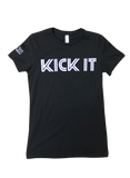 Black Women's  SS-Kick It