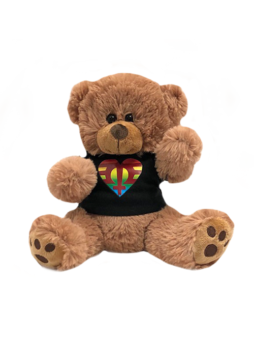 Plush Bear-Rainbow Logo-Black Hoodie Shirt