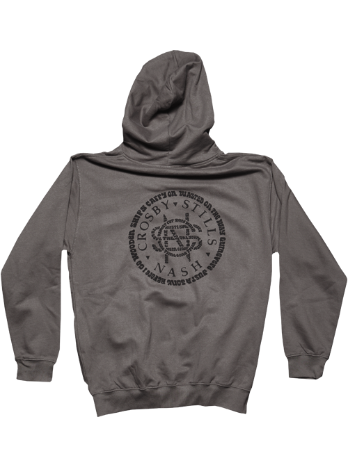 Dark Grey Zip Hoodie-Song Titles Circle Logo
