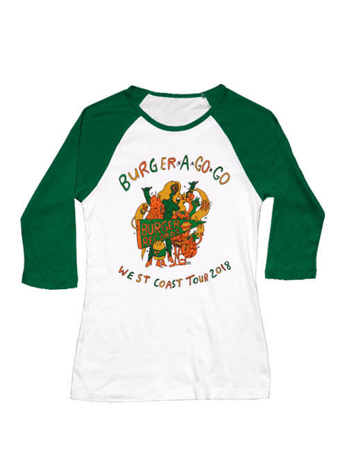 Green/White Women's Raglan-Burger