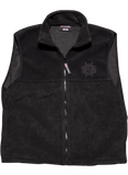 Black Fleece Vest-Initials Logo
