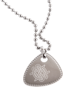 Pick Necklace-Silver Initials Guitar Pick