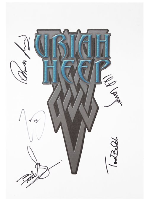 White Poster-Band Autographed