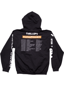 WILL.I.AM Black WIllPower 2013 European Tour Pullover Hoodie with Dated Back