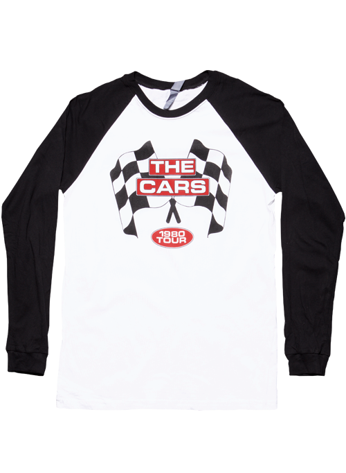 White/Black Raglan-1980 Checkered Flag
