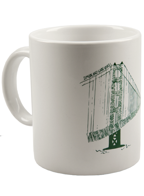 White Coffee Mug-Bridge Art