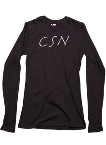 Black Women's LS-Initials T
